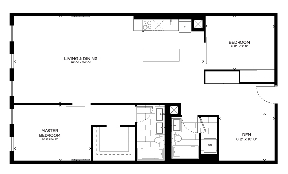Floorplan for Union Loft