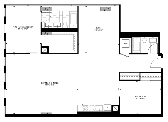 Floorplan for Core Loft