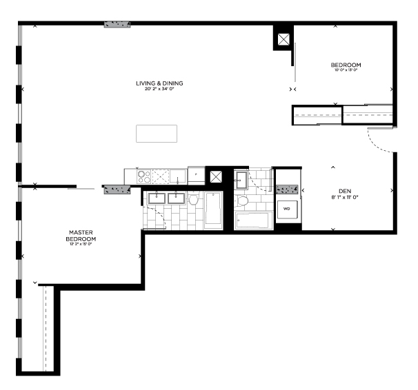 Floorplan for York Loft
